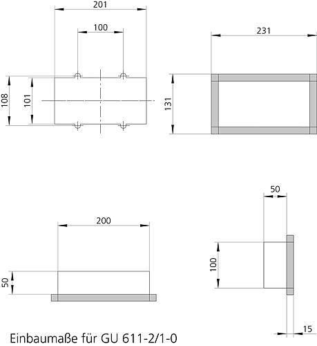 siedle gu 611 2 1 0. Black Bedroom Furniture Sets. Home Design Ideas